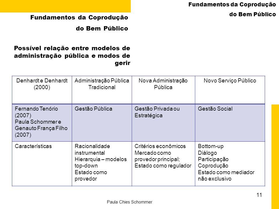 Fundamentos da Coprodução do Bem Público