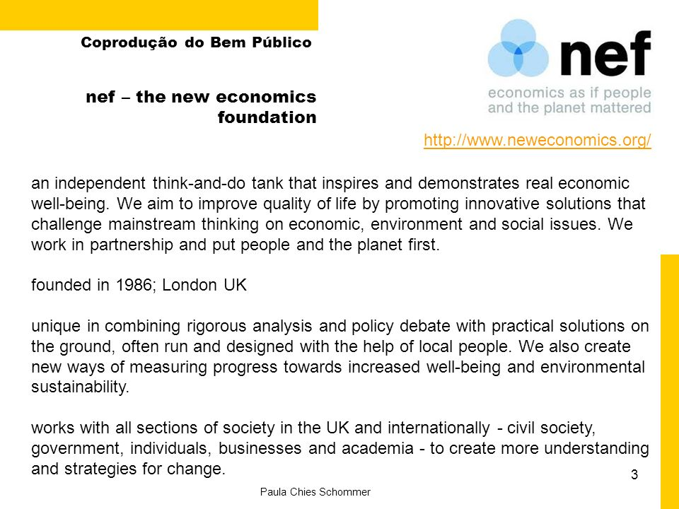 nef – the new economics foundation