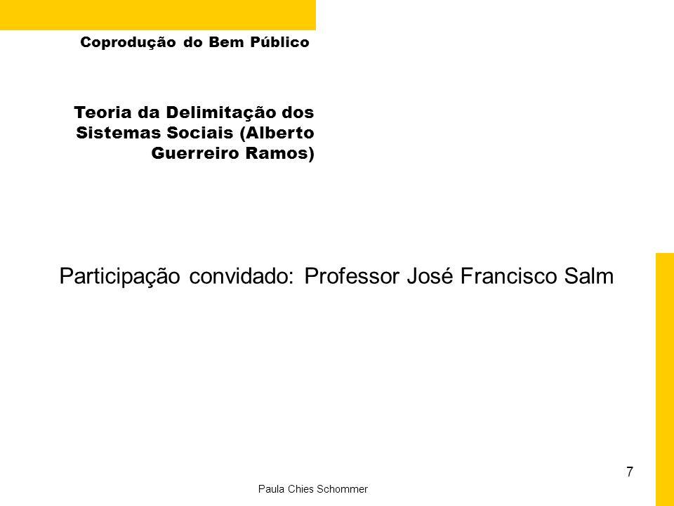 Participação convidado: Professor José Francisco Salm