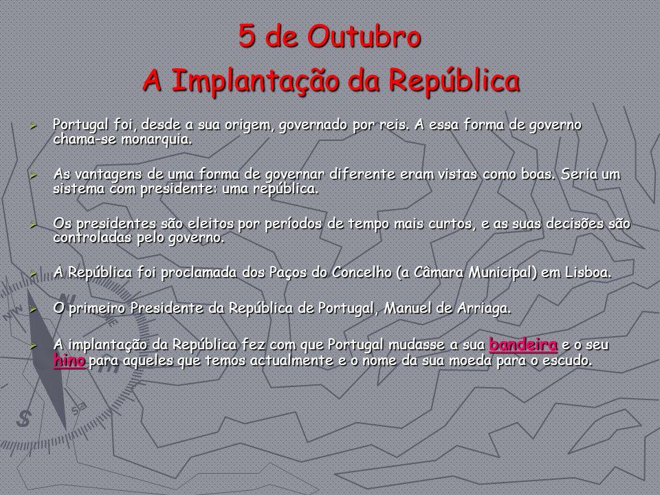 5 de Outubro A Implantação da República