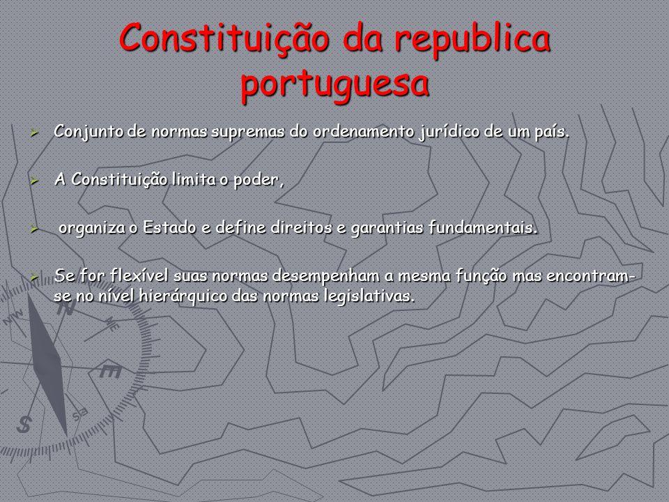 Constituição da republica portuguesa