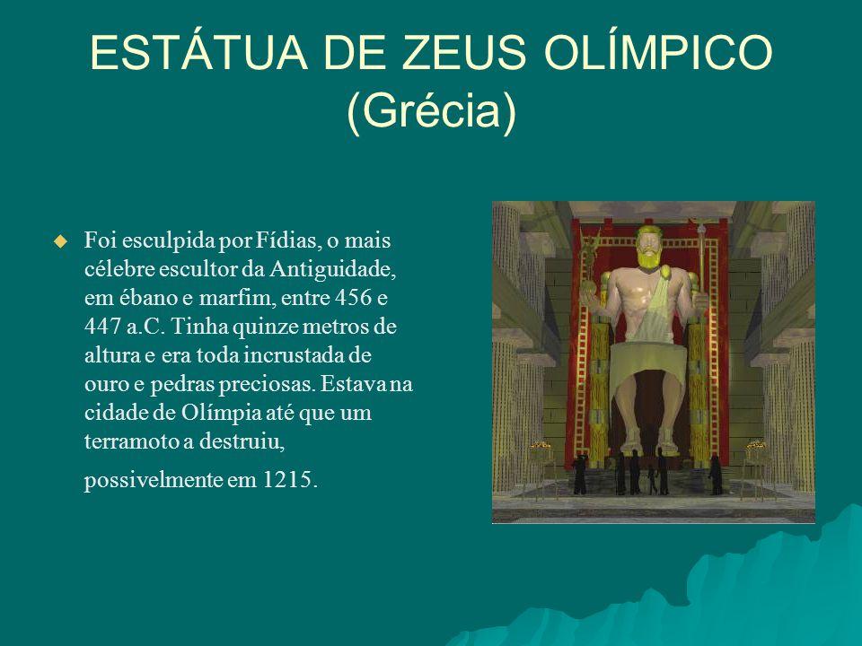 ESTÁTUA DE ZEUS OLÍMPICO (Grécia)