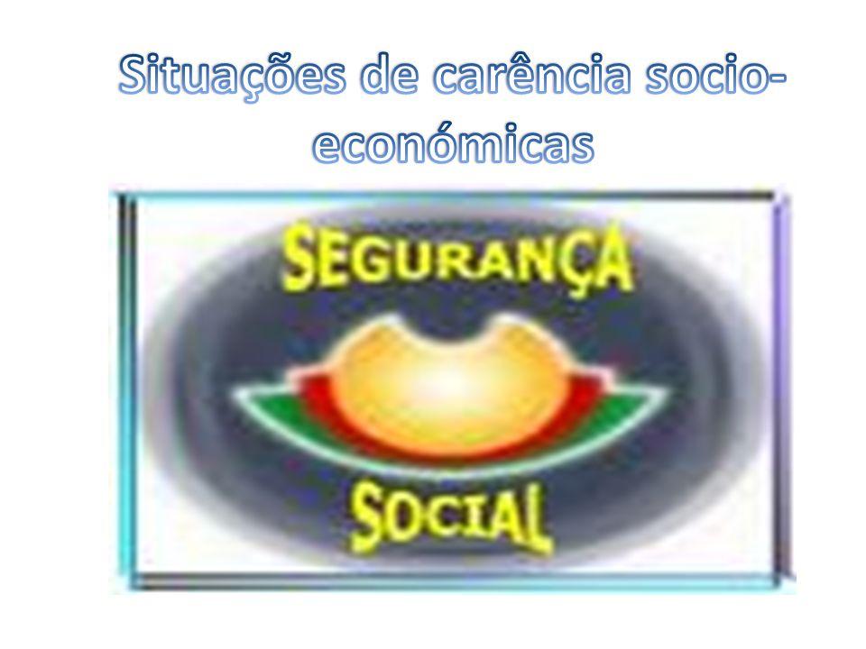 Situações de carência socio-económicas