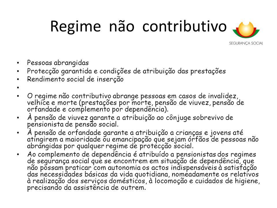 Regime não contributivo