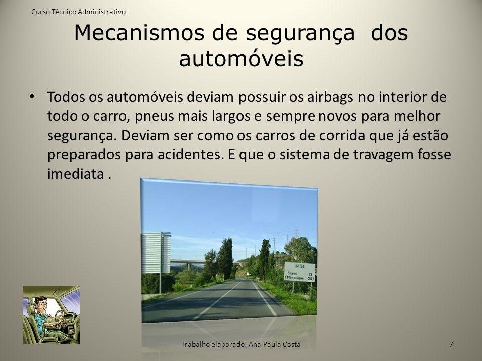Mecanismos de segurança dos automóveis