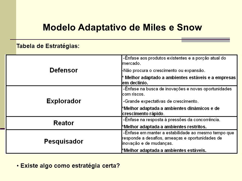 Modelo Adaptativo de Miles e Snow
