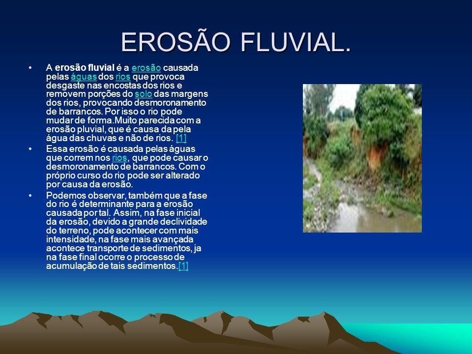 EROSÃO FLUVIAL.