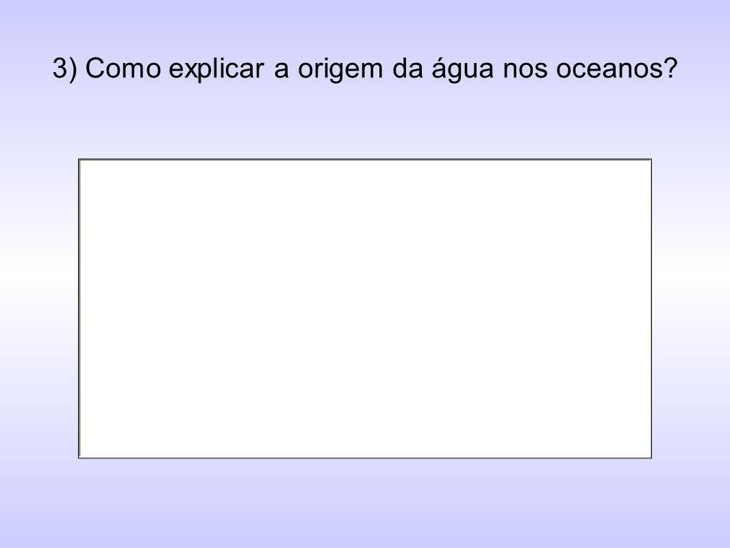 3) Como explicar a origem da água nos oceanos