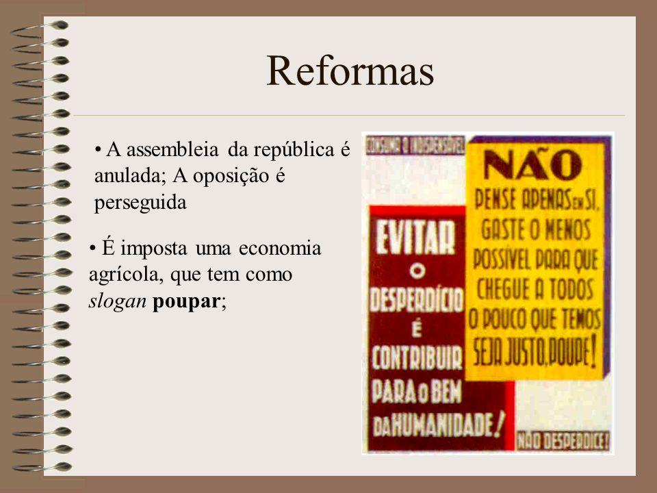 Reformas A assembleia da república é anulada; A oposição é perseguida