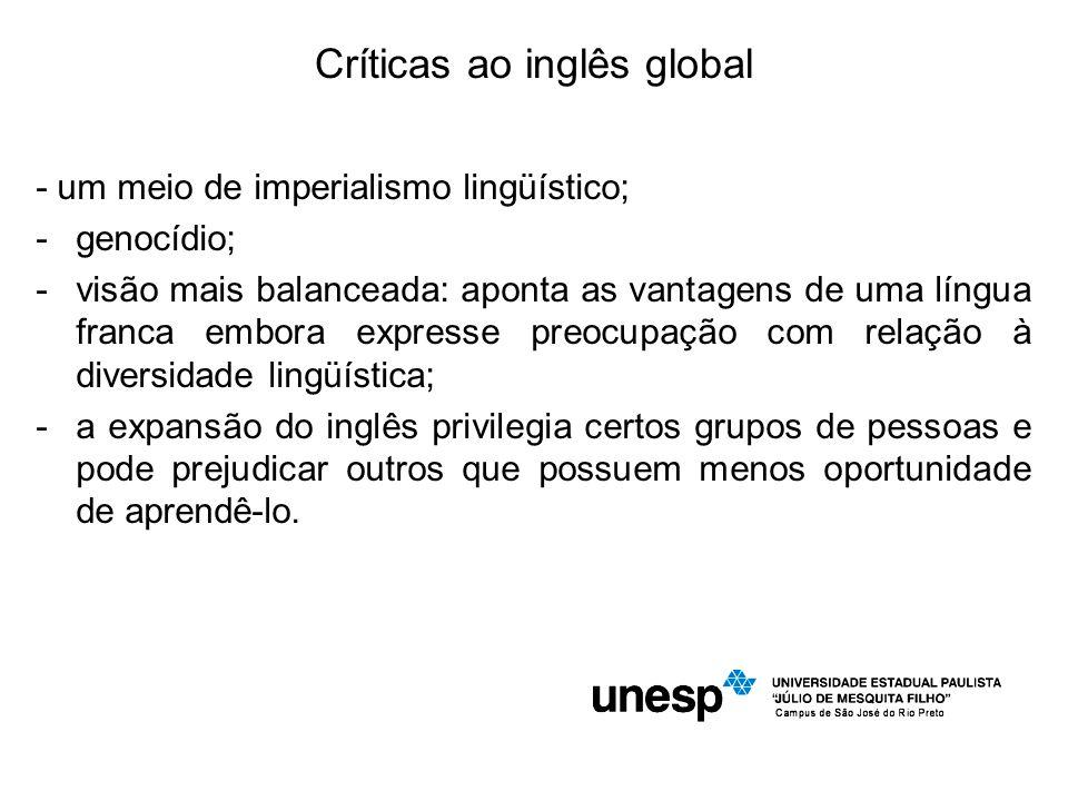 Críticas ao inglês global