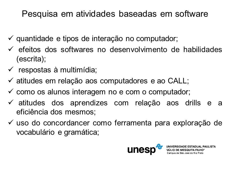 Pesquisa em atividades baseadas em software