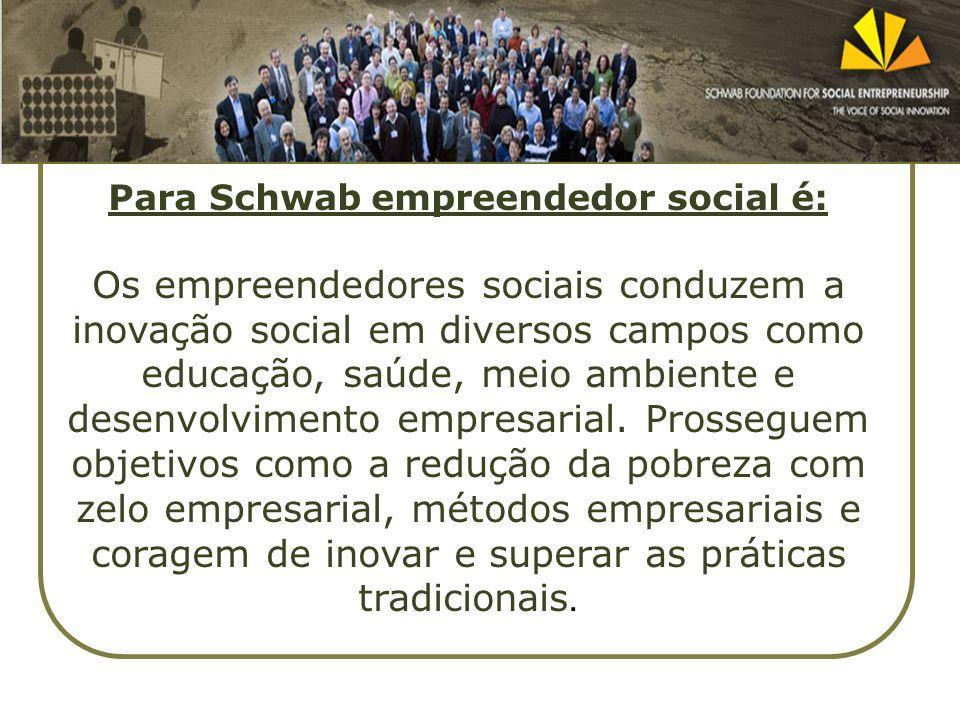 Para Schwab empreendedor social é: