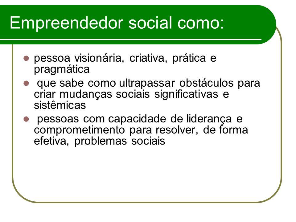 Empreendedor social como: