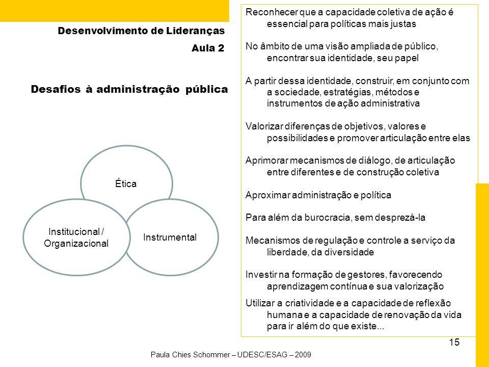 Desafios à administração pública