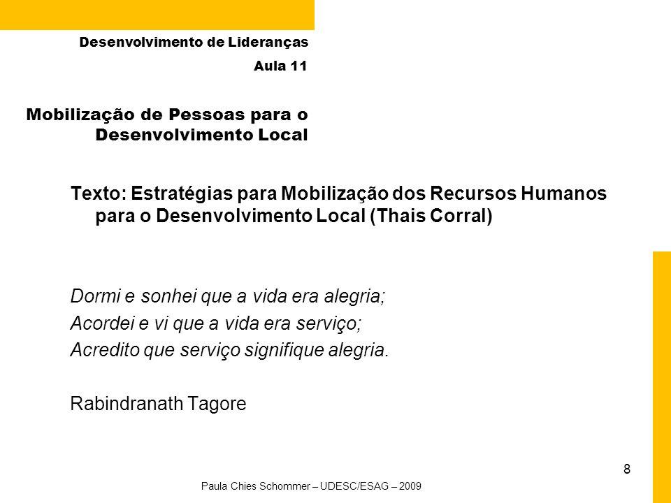 Mobilização de Pessoas para o Desenvolvimento Local
