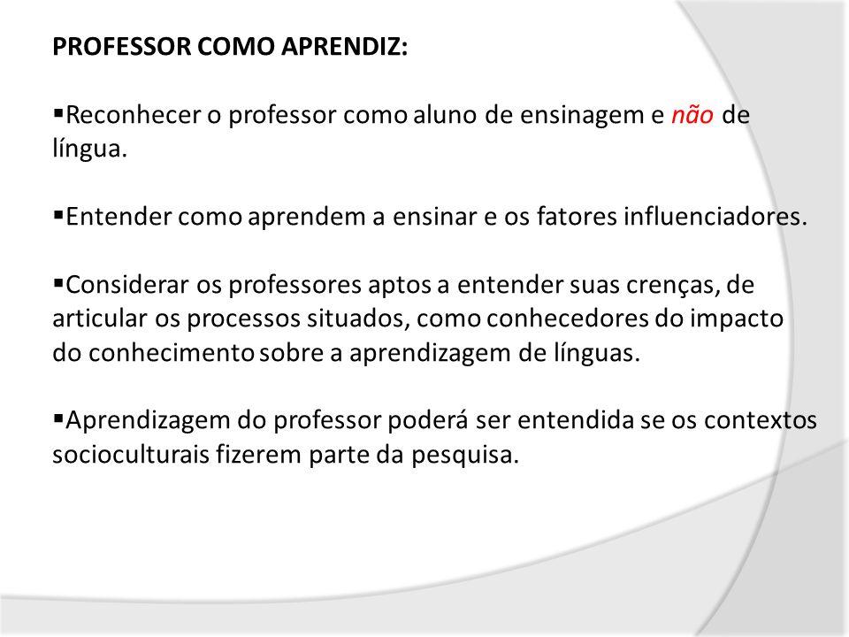 PROFESSOR COMO APRENDIZ: