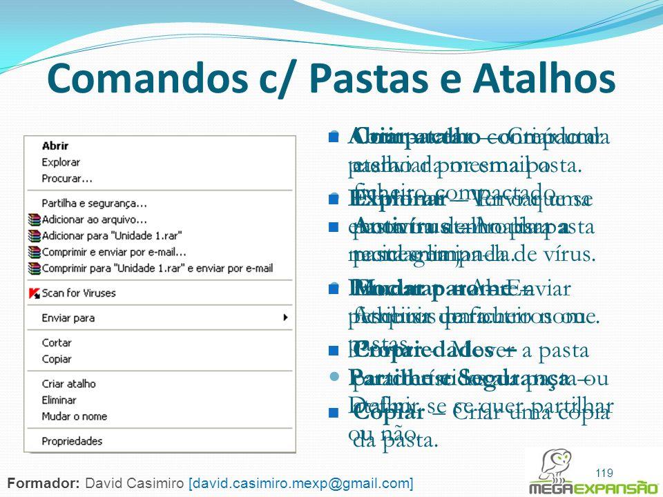 Comandos c/ Pastas e Atalhos