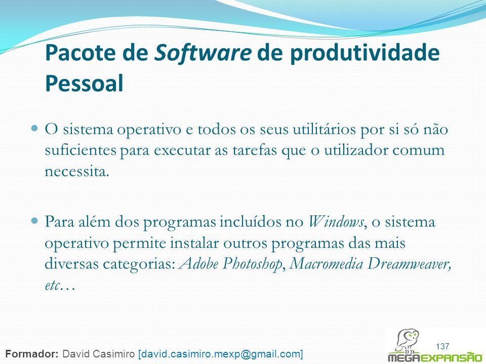 Pacote de Software de produtividade Pessoal