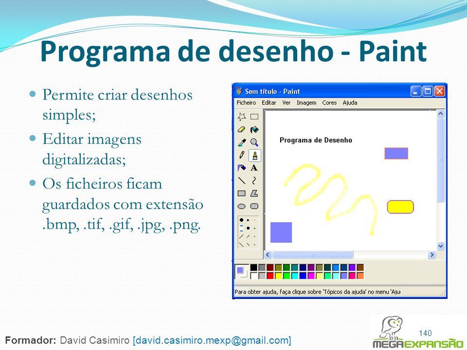 Programa de desenho - Paint