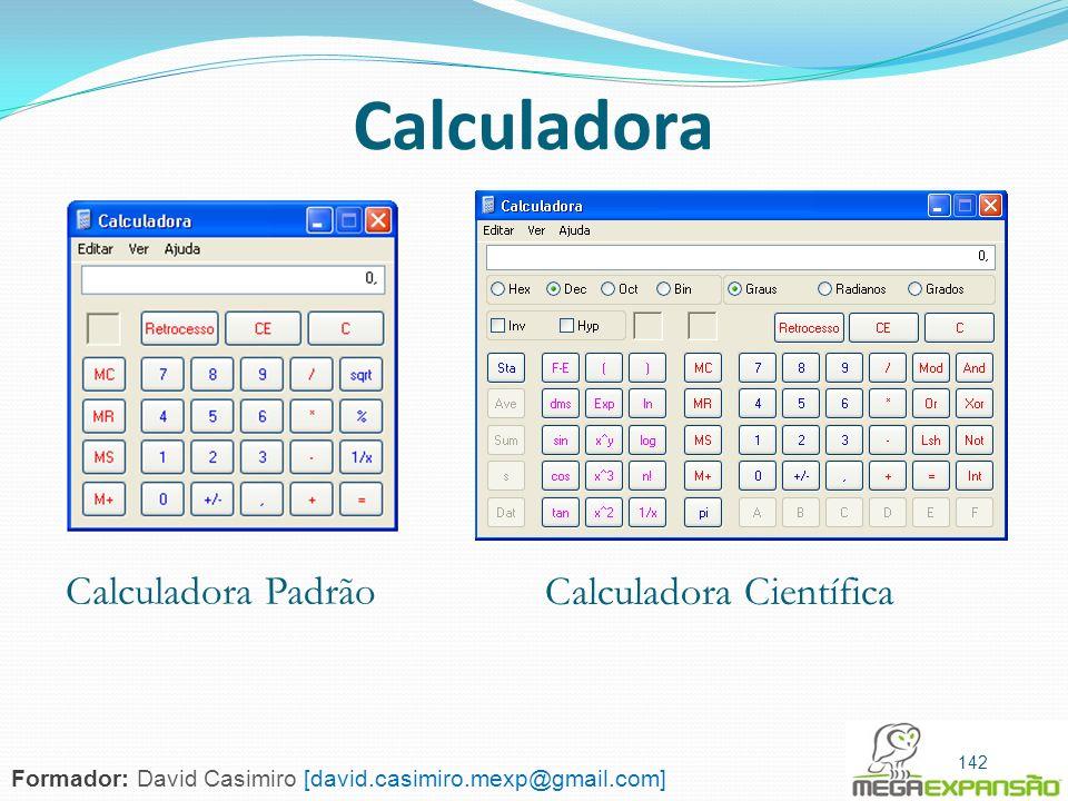 Calculadora Calculadora Padrão Calculadora Científica