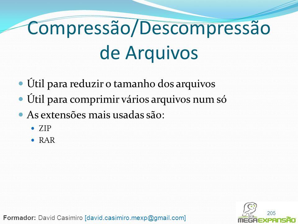 Compressão/Descompressão de Arquivos