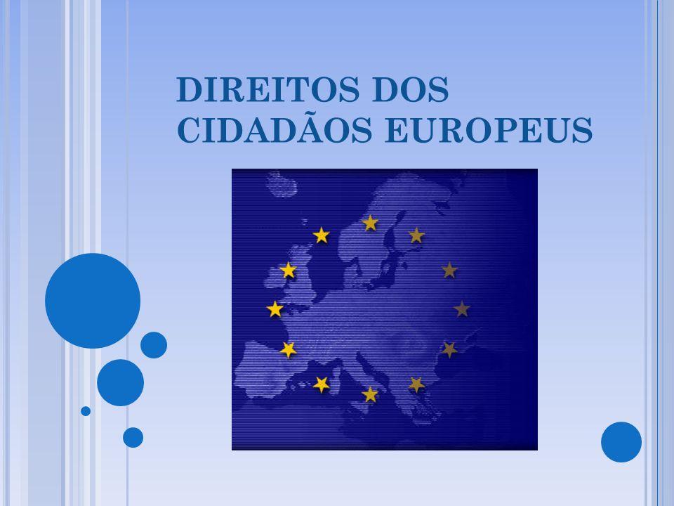 DIREITOS DOS CIDADÃOS EUROPEUS