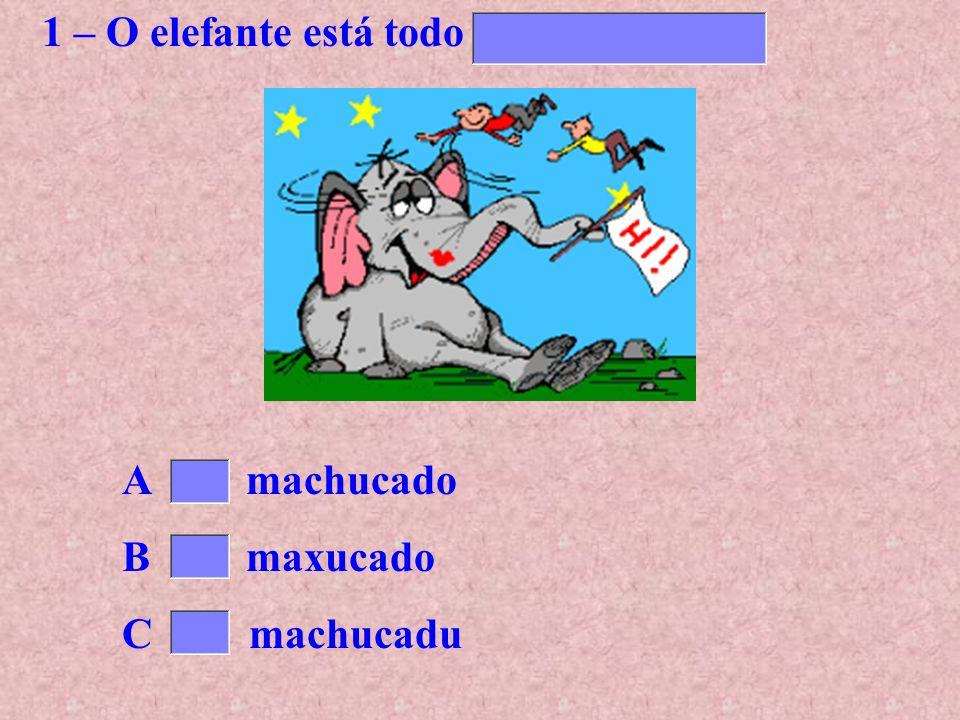 1 – O elefante está todo ..........................