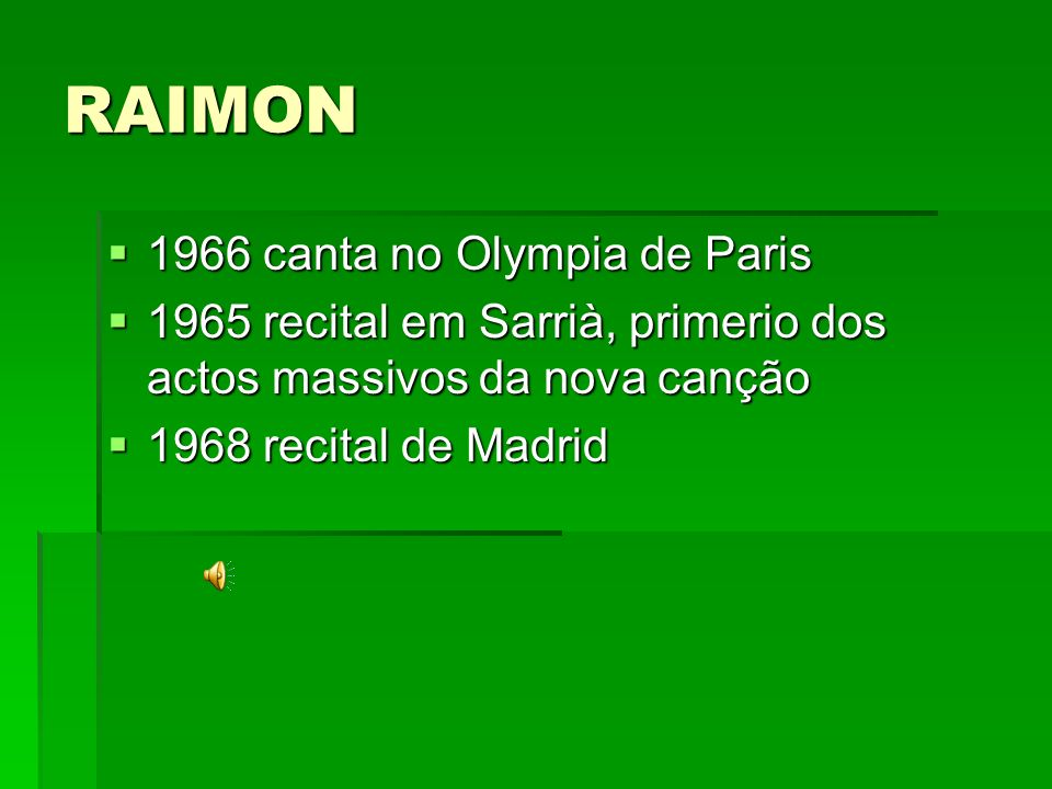 RAIMON 1966 canta no Olympia de Paris