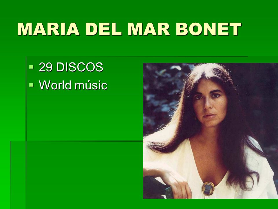 MARIA DEL MAR BONET 29 DISCOS World músic