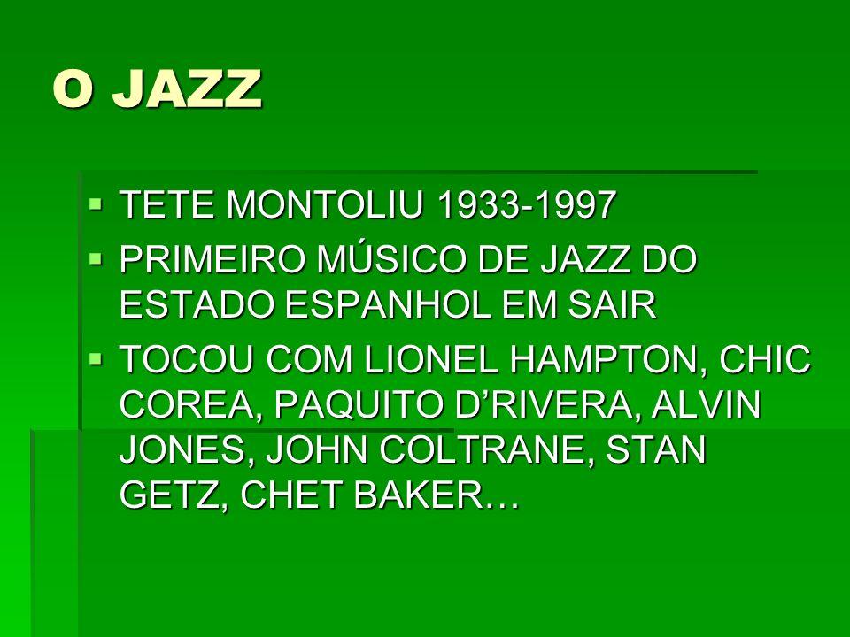 O JAZZ TETE MONTOLIU 1933-1997. PRIMEIRO MÚSICO DE JAZZ DO ESTADO ESPANHOL EM SAIR.