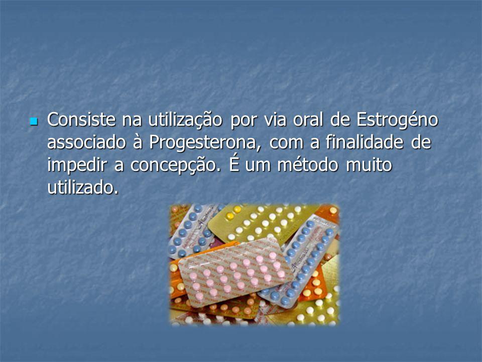 Consiste na utilização por via oral de Estrogéno associado à Progesterona, com a finalidade de impedir a concepção.