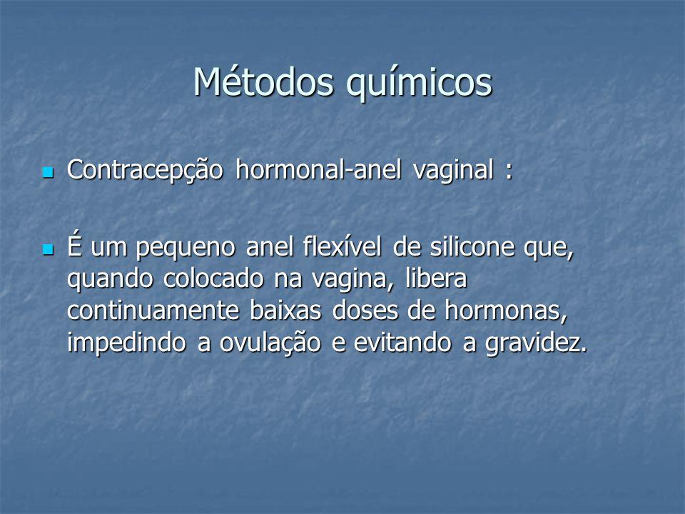 Métodos químicos Contracepção hormonal-anel vaginal :