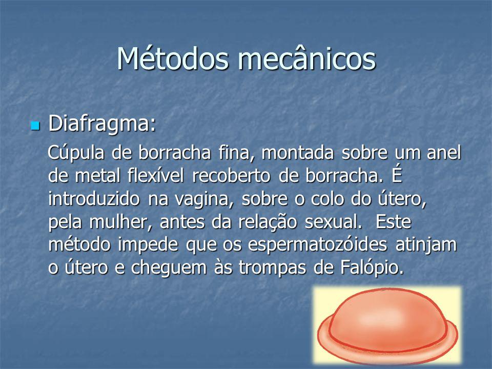 Métodos mecânicos Diafragma:
