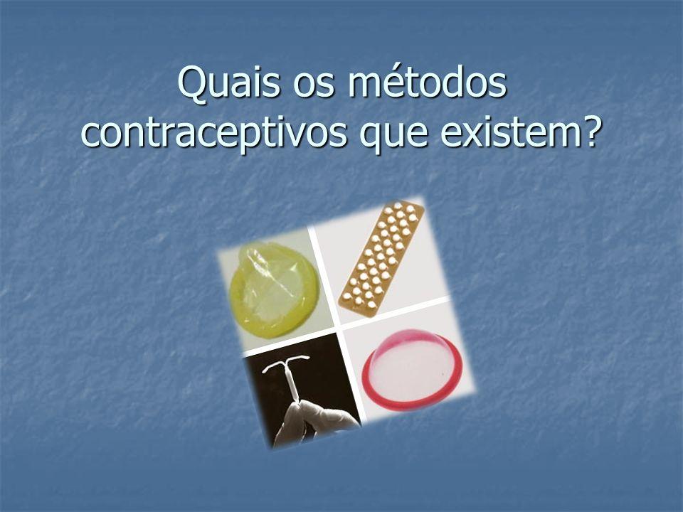 Quais os métodos contraceptivos que existem