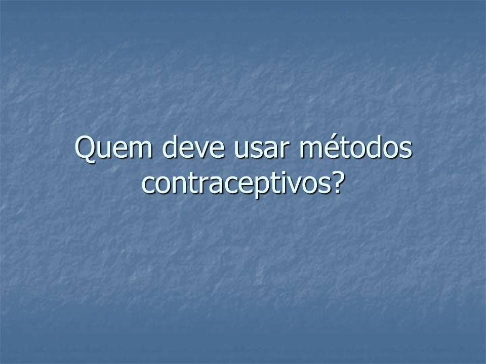Quem deve usar métodos contraceptivos