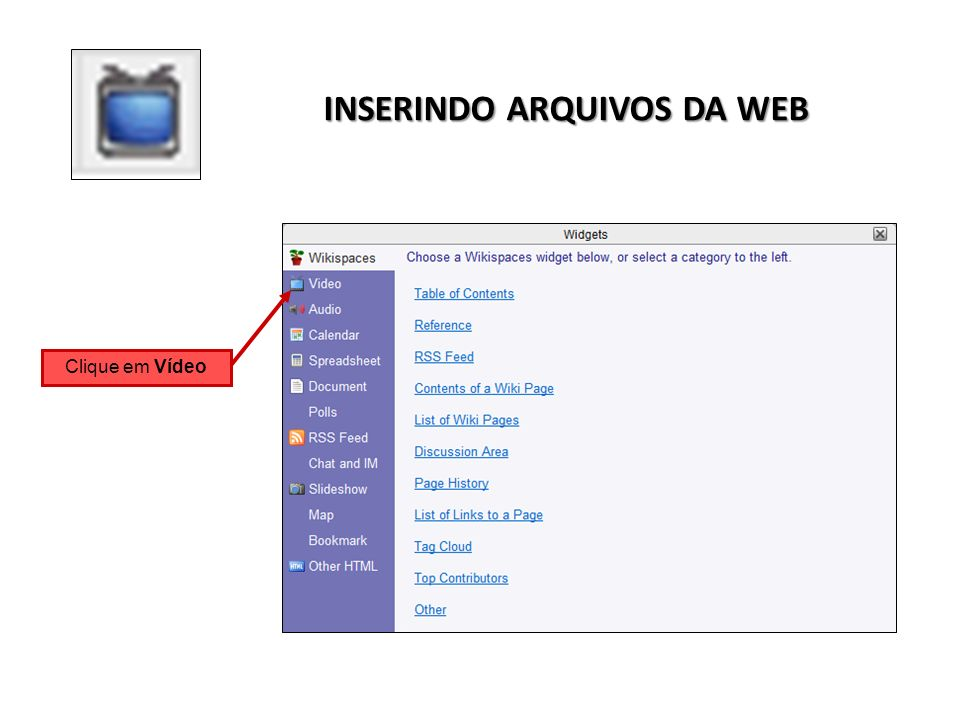 INSERINDO ARQUIVOS DA WEB