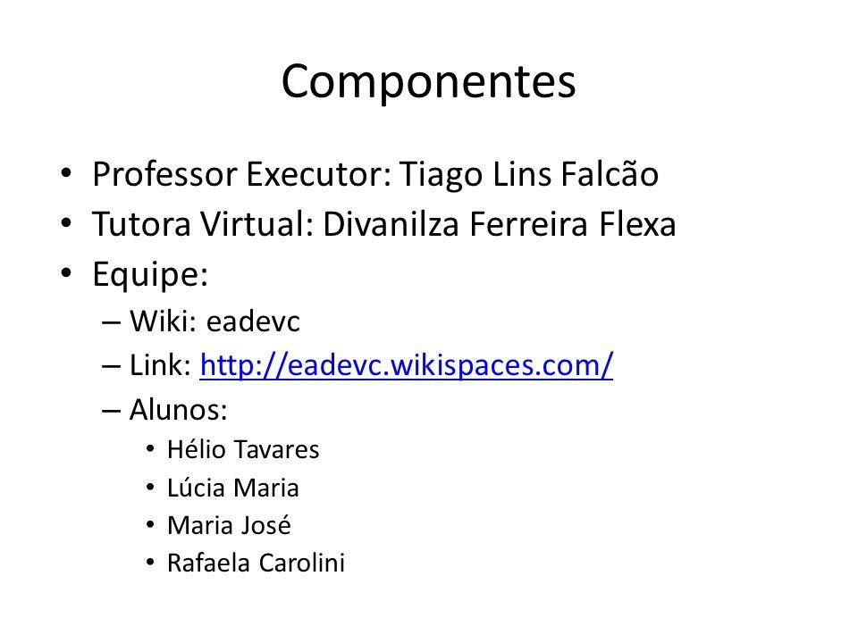 Componentes Professor Executor: Tiago Lins Falcão