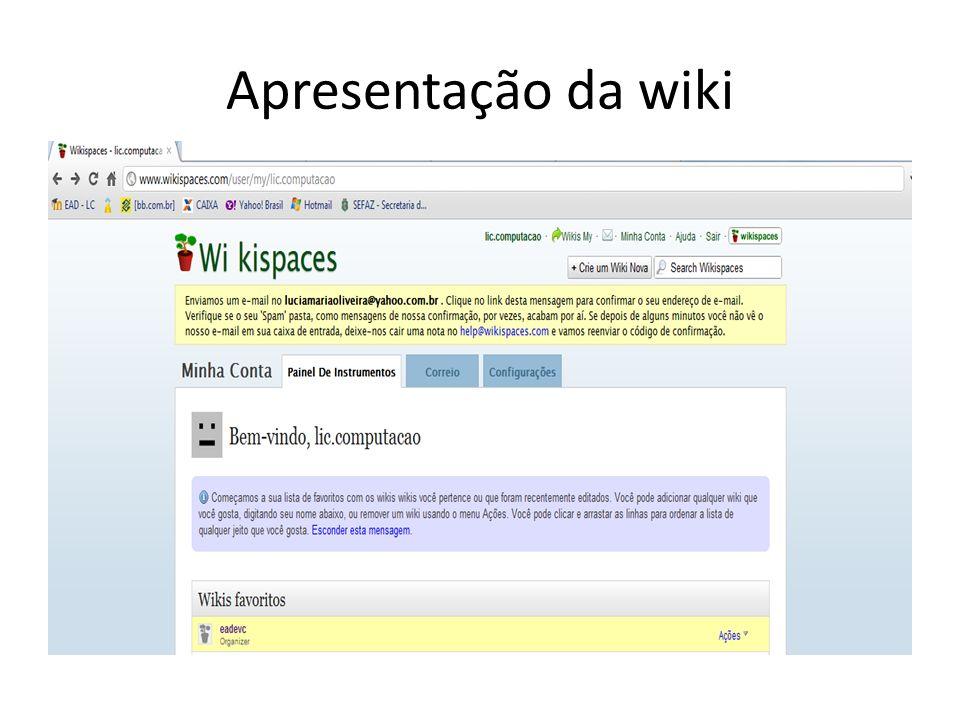 Apresentação da wiki