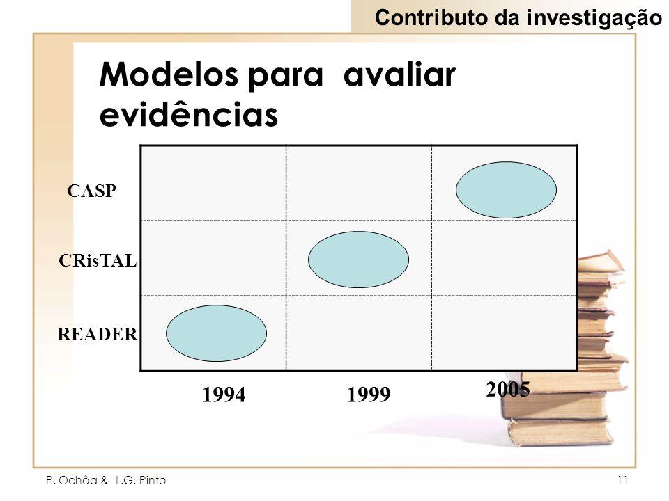 Modelos para avaliar evidências