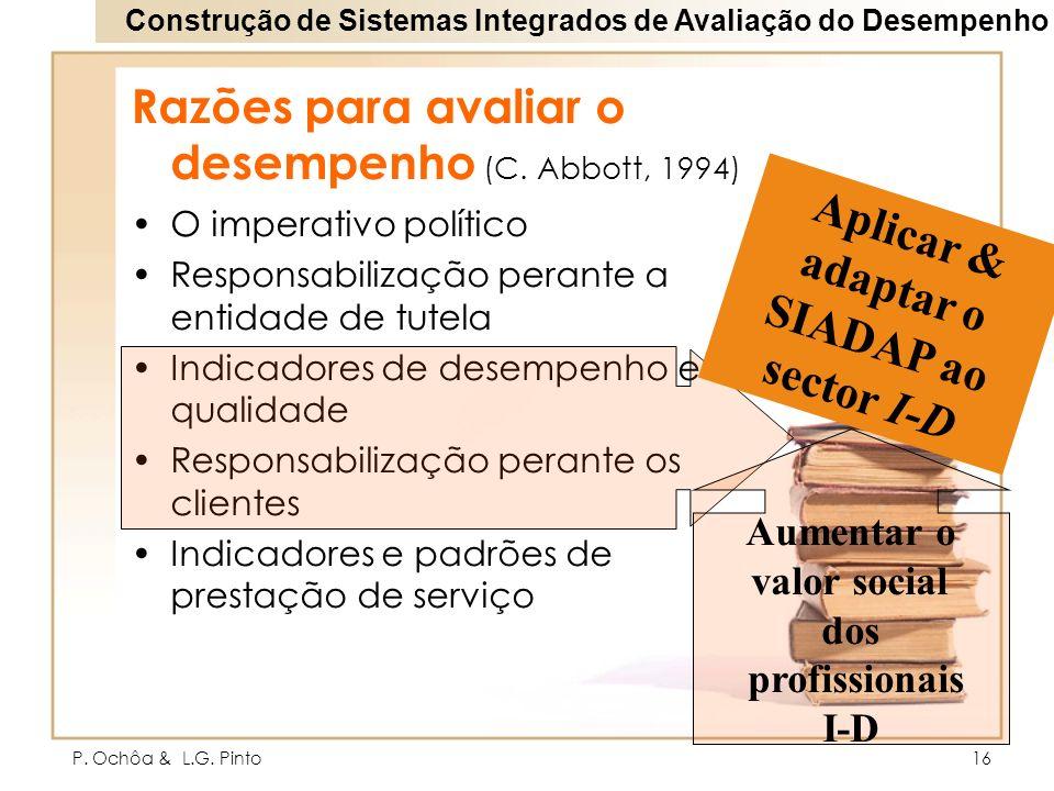 Aplicar & adaptar o SIADAP ao sector I-D