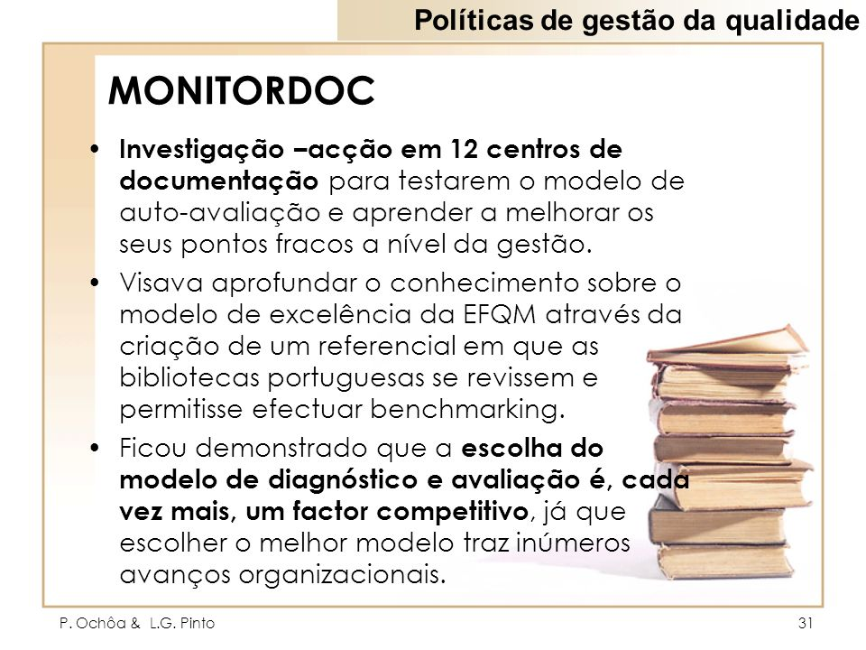 MONITORDOC Políticas de gestão da qualidade
