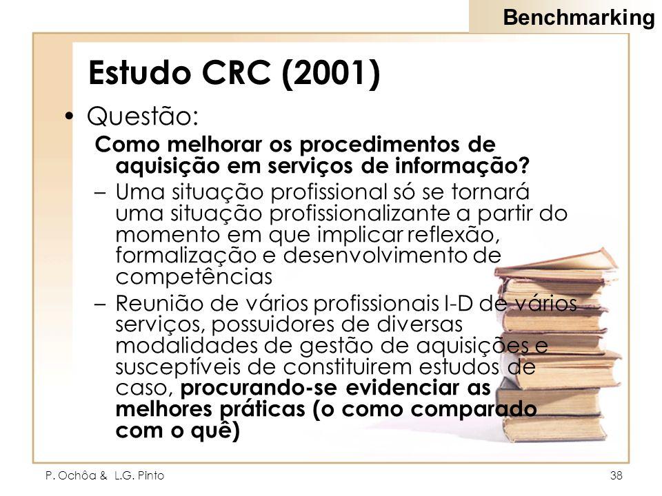 Estudo CRC (2001) Questão: Benchmarking