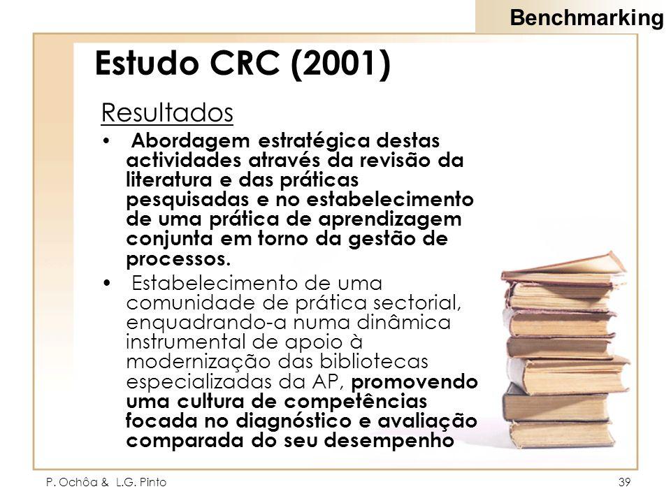 Estudo CRC (2001) Resultados Benchmarking