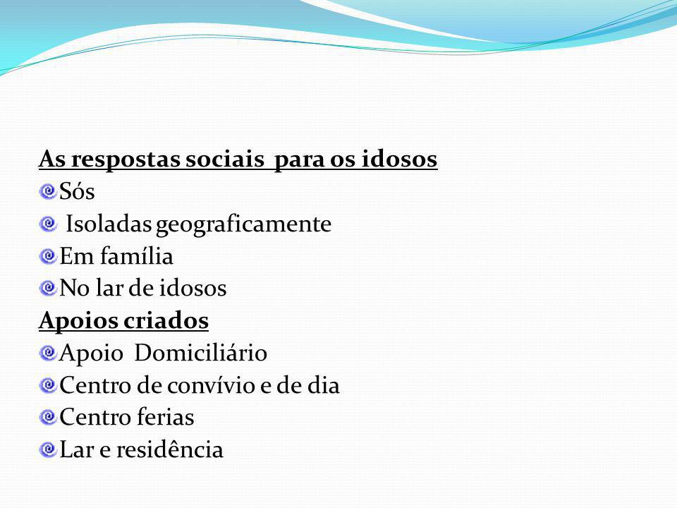 As respostas sociais para os idosos