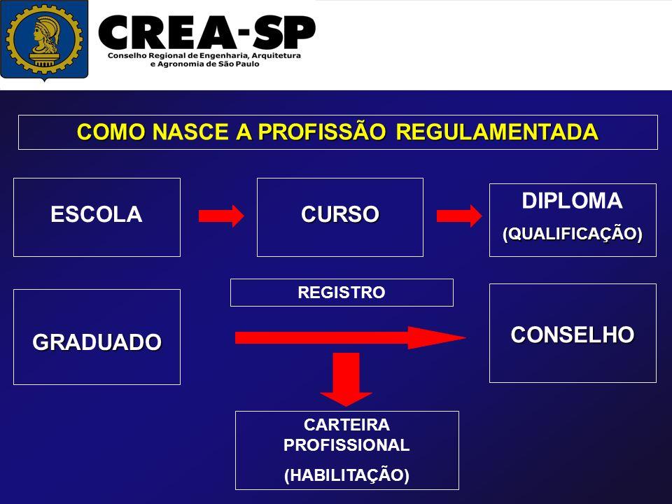 COMO NASCE A PROFISSÃO REGULAMENTADA CARTEIRA PROFISSIONAL