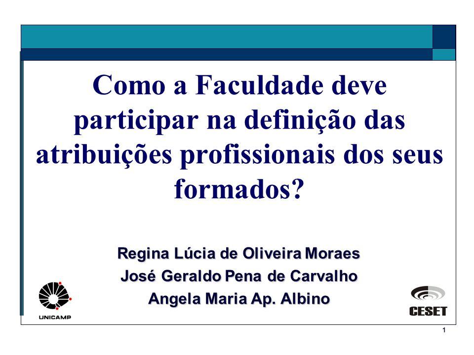 Regina Lúcia de Oliveira Moraes José Geraldo Pena de Carvalho