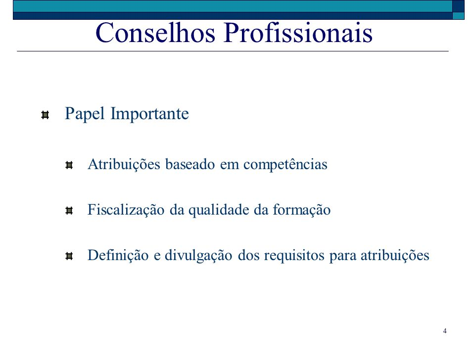 Conselhos Profissionais