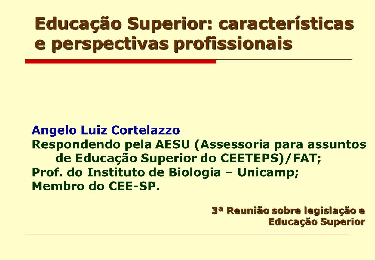 Educação Superior: características e perspectivas profissionais