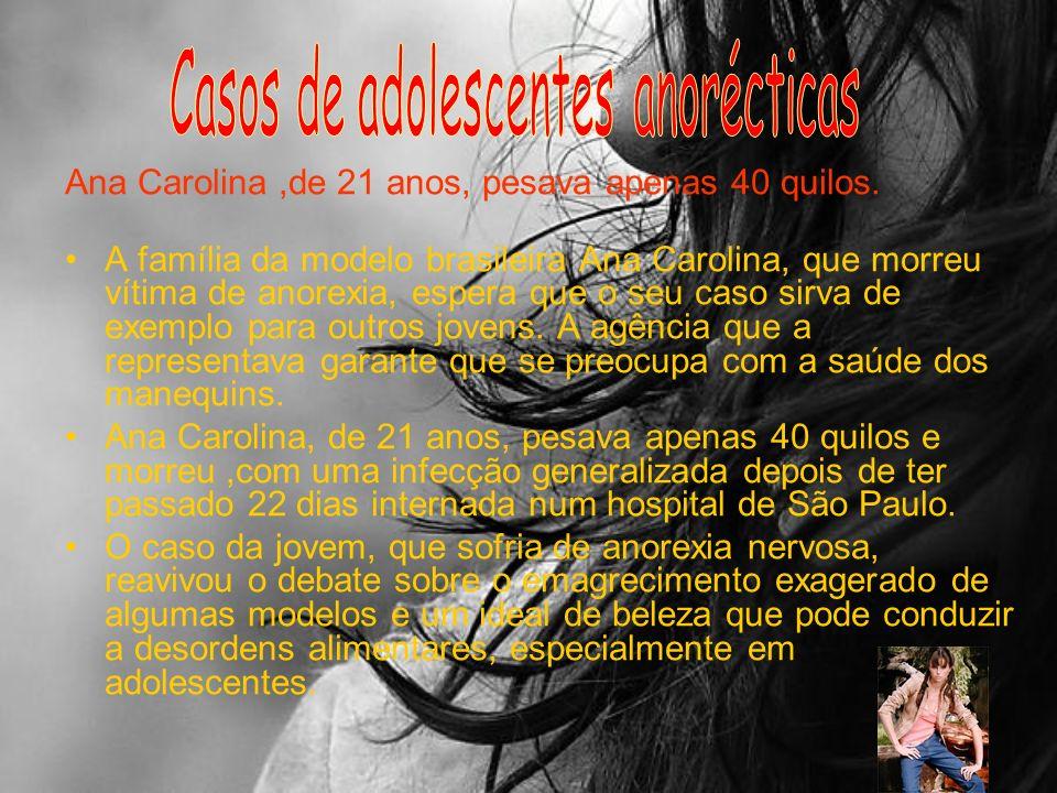 Casos de adolescentes anorécticas