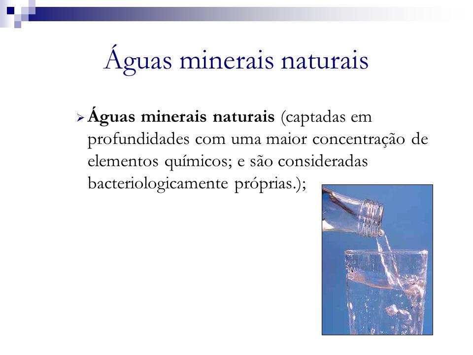 Águas minerais naturais